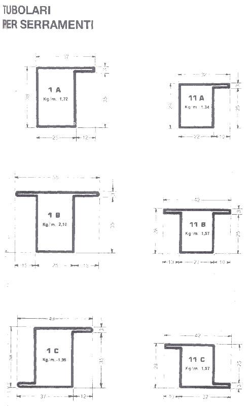 Alessandro dotto s r l lamiere laminati tubi angoli - Profili alluminio per finestre ...